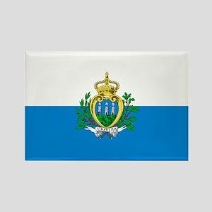 San Marino Flag Rectangle Magnet