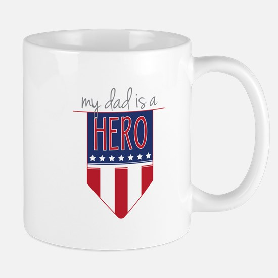 Dad Hero Flag Mugs