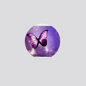 purple butterfly Mini Button