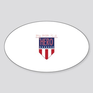 Mom Hero Flag Sticker