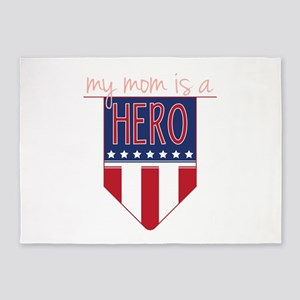 Mom Hero Flag 5'x7'Area Rug