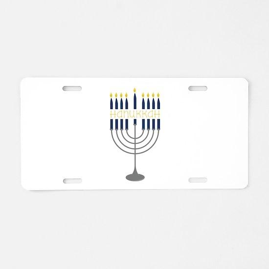 Hanukkah Menorah Aluminum License Plate