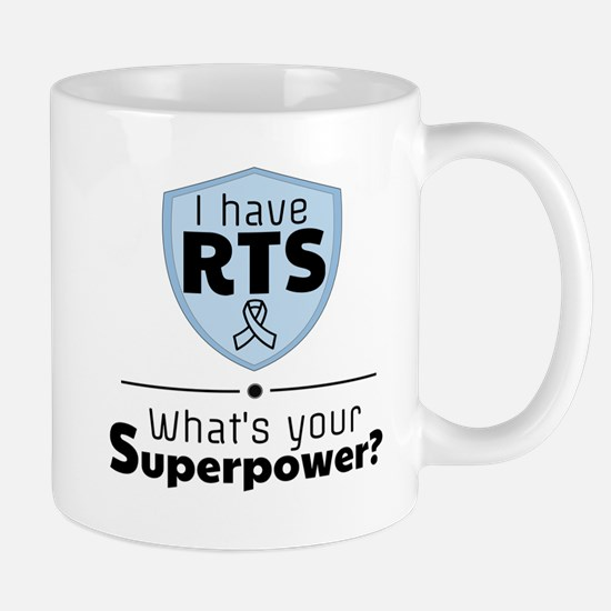 RTS - what's your superpower (blue) Mugs