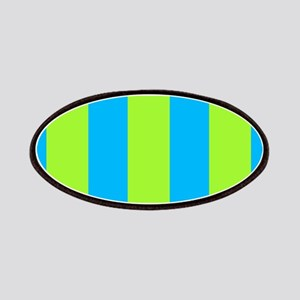 Chic Delight Green Blue Stripes 24 Patches