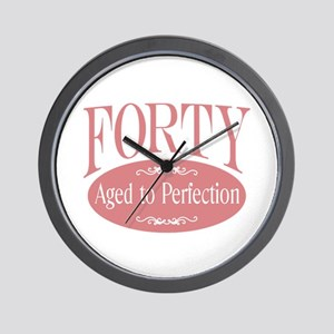 40th aged to perfection Wall Clock