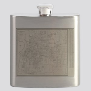 Vintage Map of Memphis Tennessee (1911) Flask