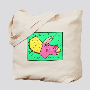 Cartoon Triceratops Tote Bag