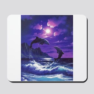 dolphins jumping Mousepad