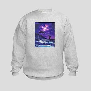 dolphins jumping Kids Sweatshirt