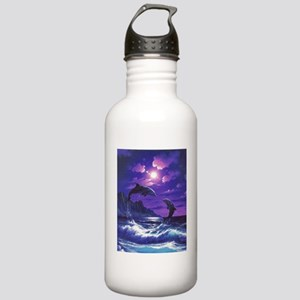 dolphins jumping Stainless Water Bottle 1.0L
