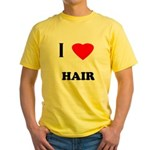I love hair Yellow T-Shirt