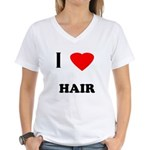I love hair Women's V-Neck T-Shirt