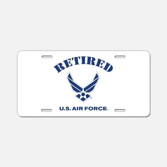 U. S. Air Force Retired Aluminum License Plate