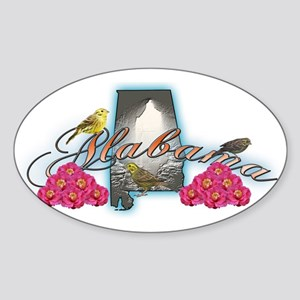 Alabama Oval Sticker