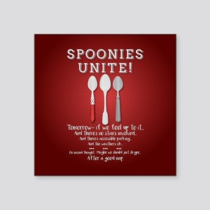 Spoonies Unite! (red) Sticker