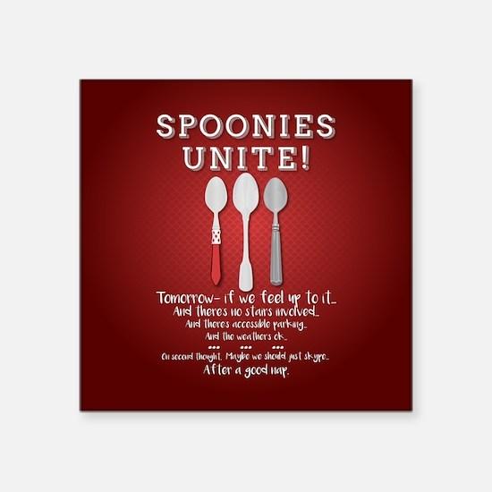 Spoonies Unite! (red) Sticker