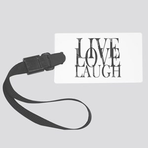 Live Love Laugh Inspirational Quote Large Luggage