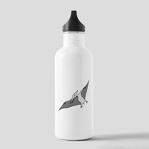 Grey Pterodactyl Water Bottle