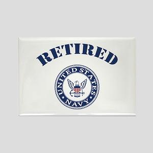 U. S. Navy Retired Rectangle Magnet