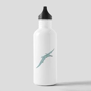 Blue Pterodactyl Water Bottle