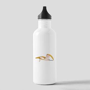 Orange Pterodactyl Water Bottle