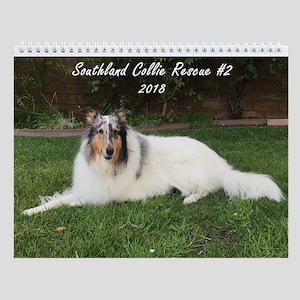 Southland Collie Rescue #2 Wall Calendar