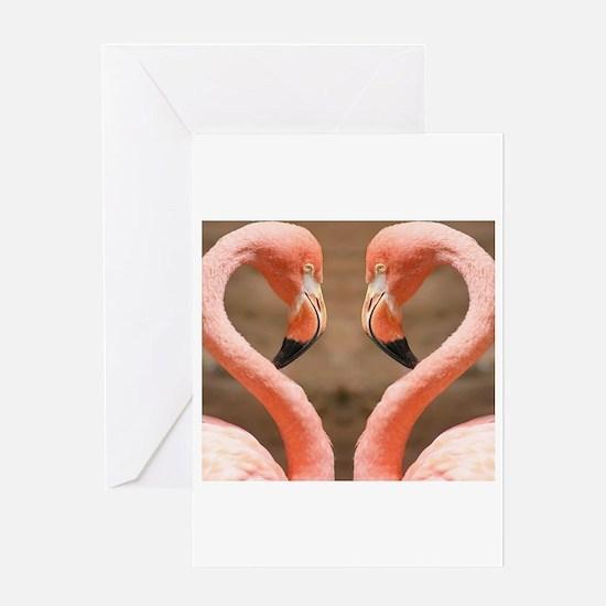 pink flamingos Greeting Cards