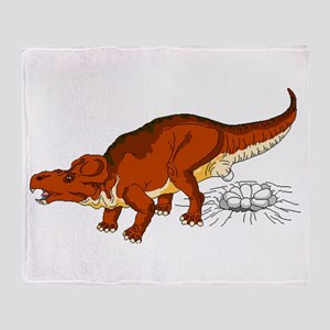 Protoceratops Laying Eggs Throw Blanket