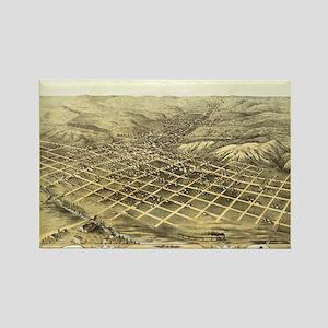 1868 Council Bluffs antiquw m Rectangle Magnet