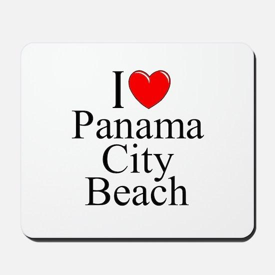"""I Love Panama City Beach"" Mousepad"