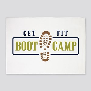 Get Fit Boot Camp 5'x7'Area Rug