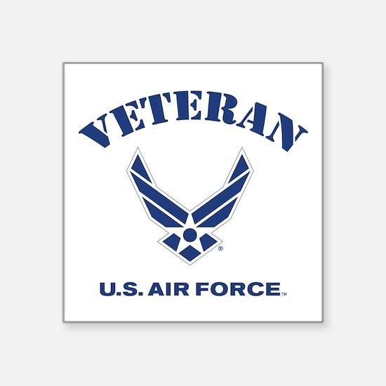 """U. S. Air Force Veteran Square Sticker 3"""" x 3"""""""