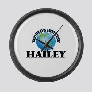 World's Hottest Hailey Large Wall Clock