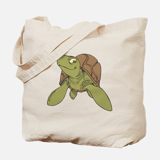 Grinning Sea Turtle Tote Bag