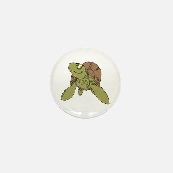 Grinning Sea Turtle Mini Button