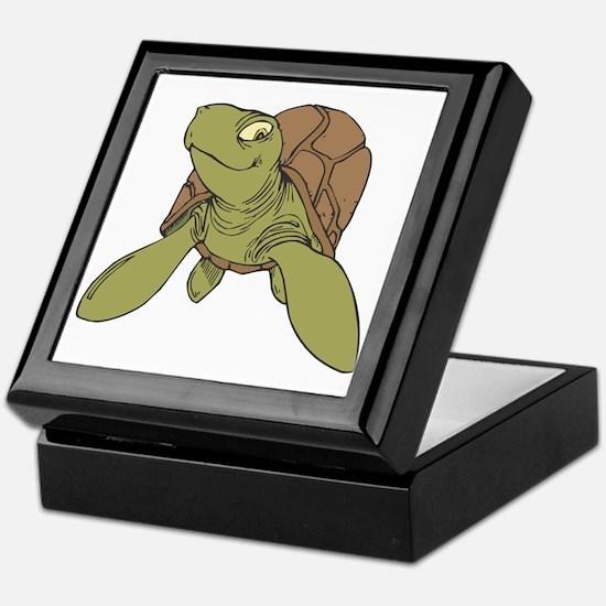 Grinning Sea Turtle Keepsake Box