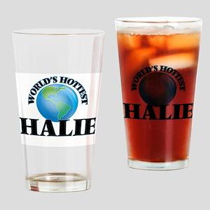 World's Hottest Halie Drinking Glass