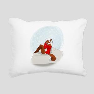 Christmas fox Rectangular Canvas Pillow