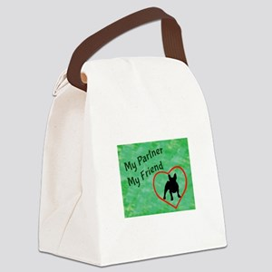 My Partner My Friend Frenchie Canvas Lunch Bag