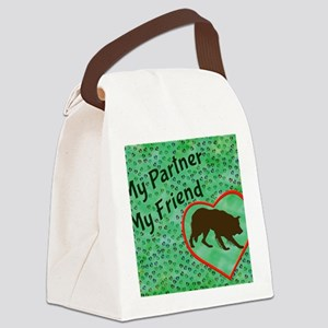 My Partner My Friend BC Canvas Lunch Bag