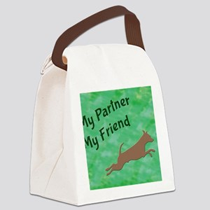 My Partner My Friend Leaping Canvas Lunch Bag