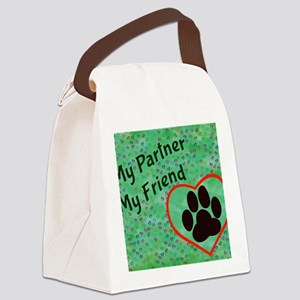 My Partner My Friend Paws Canvas Lunch Bag