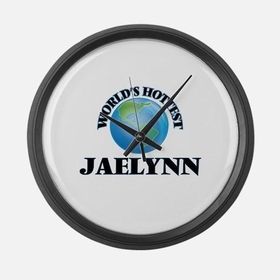 World's Hottest Jaelynn Large Wall Clock