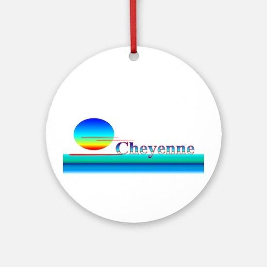 Cheyenne Ornament (Round)
