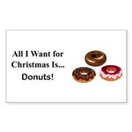Christmas Donuts Sticker (Rectangle 50 pk)