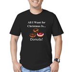 Christmas Donuts Men's Fitted T-Shirt (dark)