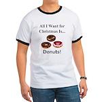 Christmas Donuts Ringer T