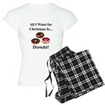 Christmas Donuts Women's Light Pajamas