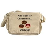 Christmas Donuts Messenger Bag