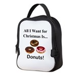 Christmas Donuts Neoprene Lunch Bag